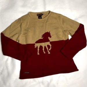 RARE Vintage Ariat Horse Color-block Sweatshirt